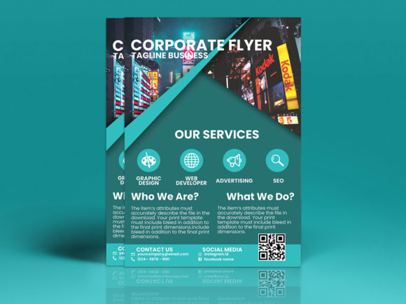 Modern Corporate Flyer Design Graphic Print Templates By tuangrafik - Image 3