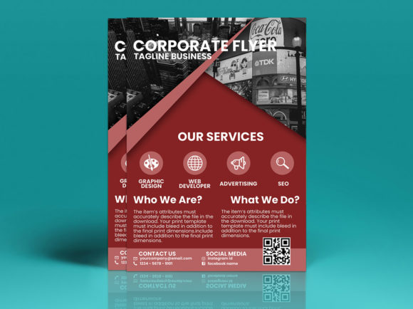 Modern Corporate Flyer Design Graphic Print Templates By tuangrafik - Image 4