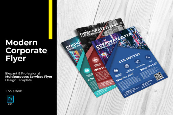 Modern Corporate Flyer Design Graphic Print Templates By tuangrafik - Image 1