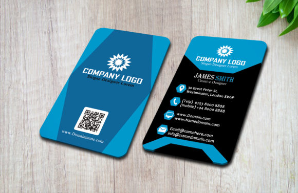 Print on Demand: Modern Vertical Business Card Graphic Print Templates By polahdesign