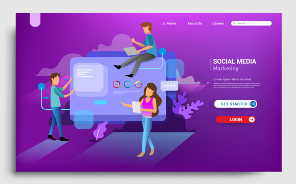 Modern Flat Design Concept of Web Page Graphic By OtpirusThree Image 1