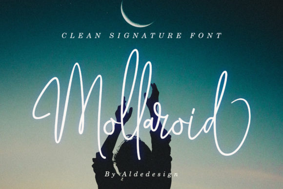 Print on Demand: Mollaroid Script & Handwritten Font By aldedesign