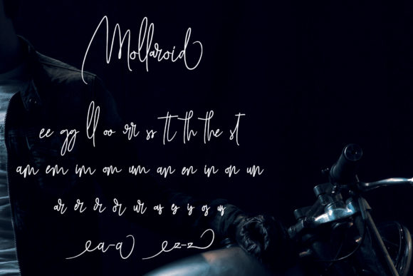 Print on Demand: Mollaroid Script & Handwritten Font By aldedesign - Image 7