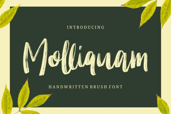 Print on Demand: Molliquam Script & Handwritten Font By Garisman Studio