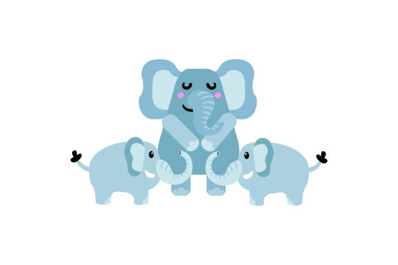 Download Free Mom 2 Baby Elephans Svg Cut File By Creative Fabrica Crafts for Cricut Explore, Silhouette and other cutting machines.