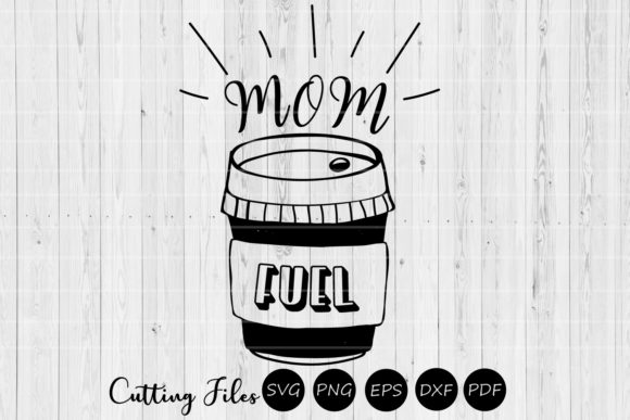Download Free Mom Fuel Mom Life Svg Graphic By Hd Art Workshop Creative for Cricut Explore, Silhouette and other cutting machines.