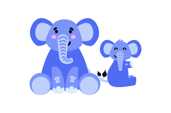 Download Free Mom Baby Elephant Holding Tails Svg Cut File By Creative Fabrica Crafts Creative Fabrica for Cricut Explore, Silhouette and other cutting machines.