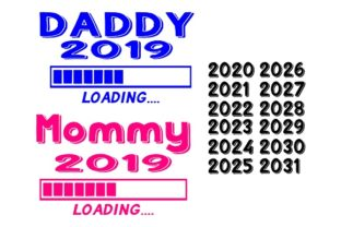 Download Free Mommy Daddy Loading Graphic By Family Creations Creative SVG Cut Files