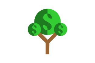 Download Free Money Tree Dollar Logo Graphic By 2qnah Creative Fabrica for Cricut Explore, Silhouette and other cutting machines.