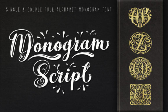 Print on Demand: Monogram Script Dekorativ Schriftarten von Royaltype