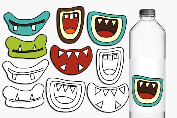 Print on Demand: Monster Grins Graphic Illustrations By Revidevi