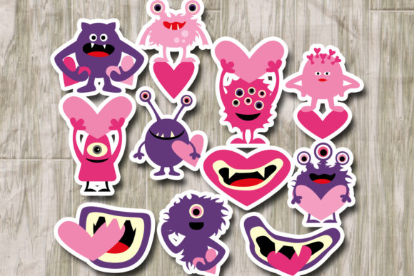 Monsters Pink Purple Graphic By Revidevi Image 2