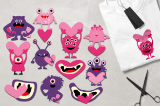 Monsters Pink Purple Graphic By Revidevi