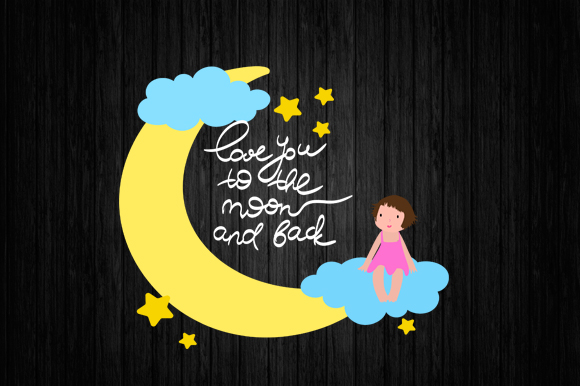 Download Free Moon Girl Svg Lovely Baby Svg Kidssvg Graphic By Scmdesign for Cricut Explore, Silhouette and other cutting machines.
