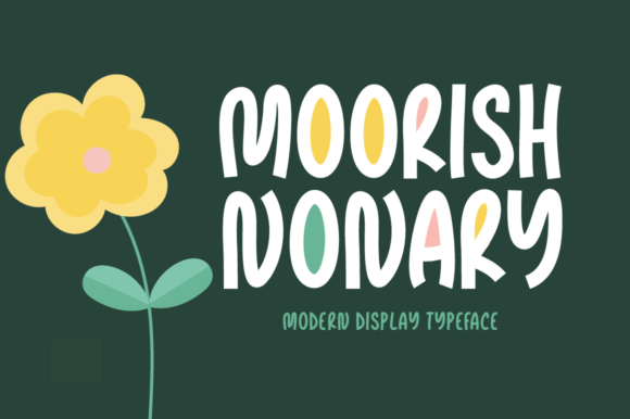 Print on Demand: Moorish Nonary Display Font By Instagram Fonts