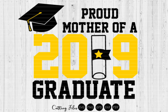 Print on Demand: Mother of a Graduate | Graduation SVG Graphic Graphic Templates By HD Art Workshop
