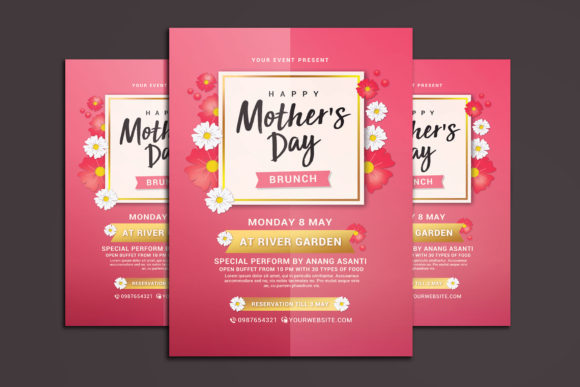 Mothers Day Brunch Flyer Graphic By Muhamadiqbalhidayat