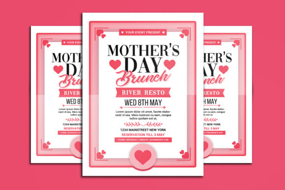 Mothers Day Brunch Graphic Print Templates By muhamadiqbalhidayat