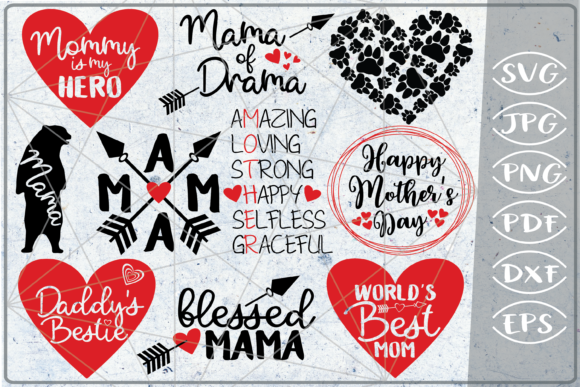 Mother's Day Bundle 10 SVG Cutting Files Graphic Crafts By Cute Graphic