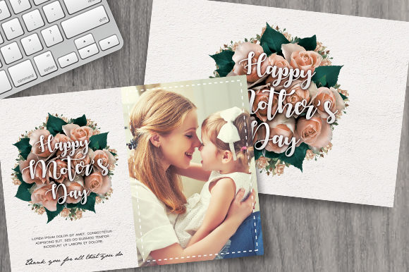 Mothers Day Card Graphic Print Templates By ayumadesign