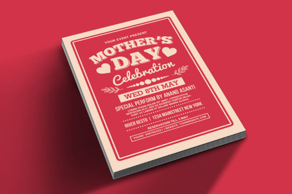 Mother's Day Celebration Typography Graphic Print Templates By muhamadiqbalhidayat - Image 2