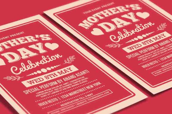 Mother's Day Celebration Typography Graphic Print Templates By muhamadiqbalhidayat - Image 3