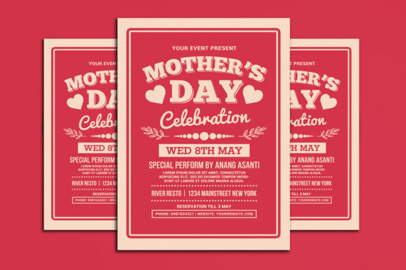 Mother's Day Celebration Typography Graphic Print Templates By muhamadiqbalhidayat - Image 1