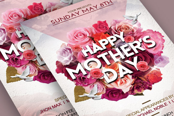 Download Free Mothers Day Flyer Graphic By Ayumadesign Creative Fabrica for Cricut Explore, Silhouette and other cutting machines.