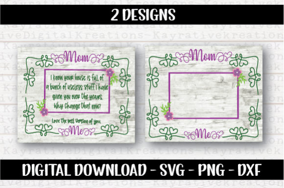 Download Free Mothers Day Svg Mom Frame Graphic By Kayla Griffin Creative for Cricut Explore, Silhouette and other cutting machines.
