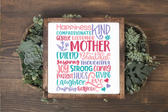Print on Demand: Mothers Day Subway Art SVG Cut File Graphic Crafts By oldmarketdesigns - Image 3