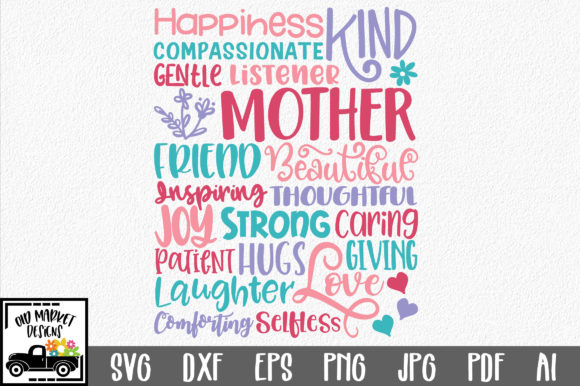 Print on Demand: Mothers Day Subway Art SVG Cut File Graphic Crafts By oldmarketdesigns - Image 1