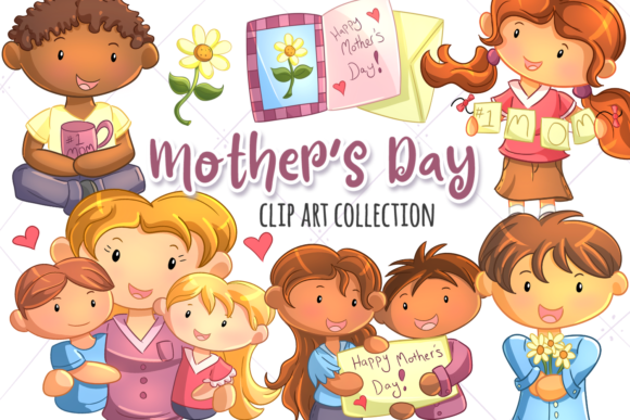 Print on Demand: Mother's Day Grafik Illustrationen von Keepinitkawaiidesign