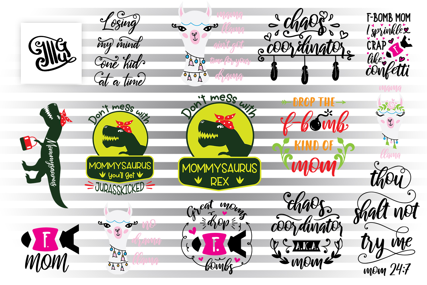 Download Free Mother S Day Bundle Graphic By Illustrator Guru Creative Fabrica for Cricut Explore, Silhouette and other cutting machines.