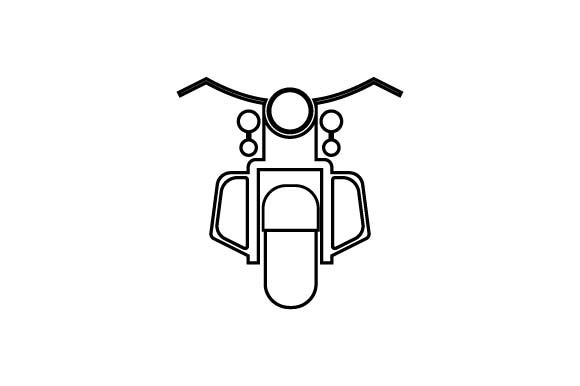 Download Free Motorbike Scooter Icon In Line Style Graphic By Hoeda80 for Cricut Explore, Silhouette and other cutting machines.
