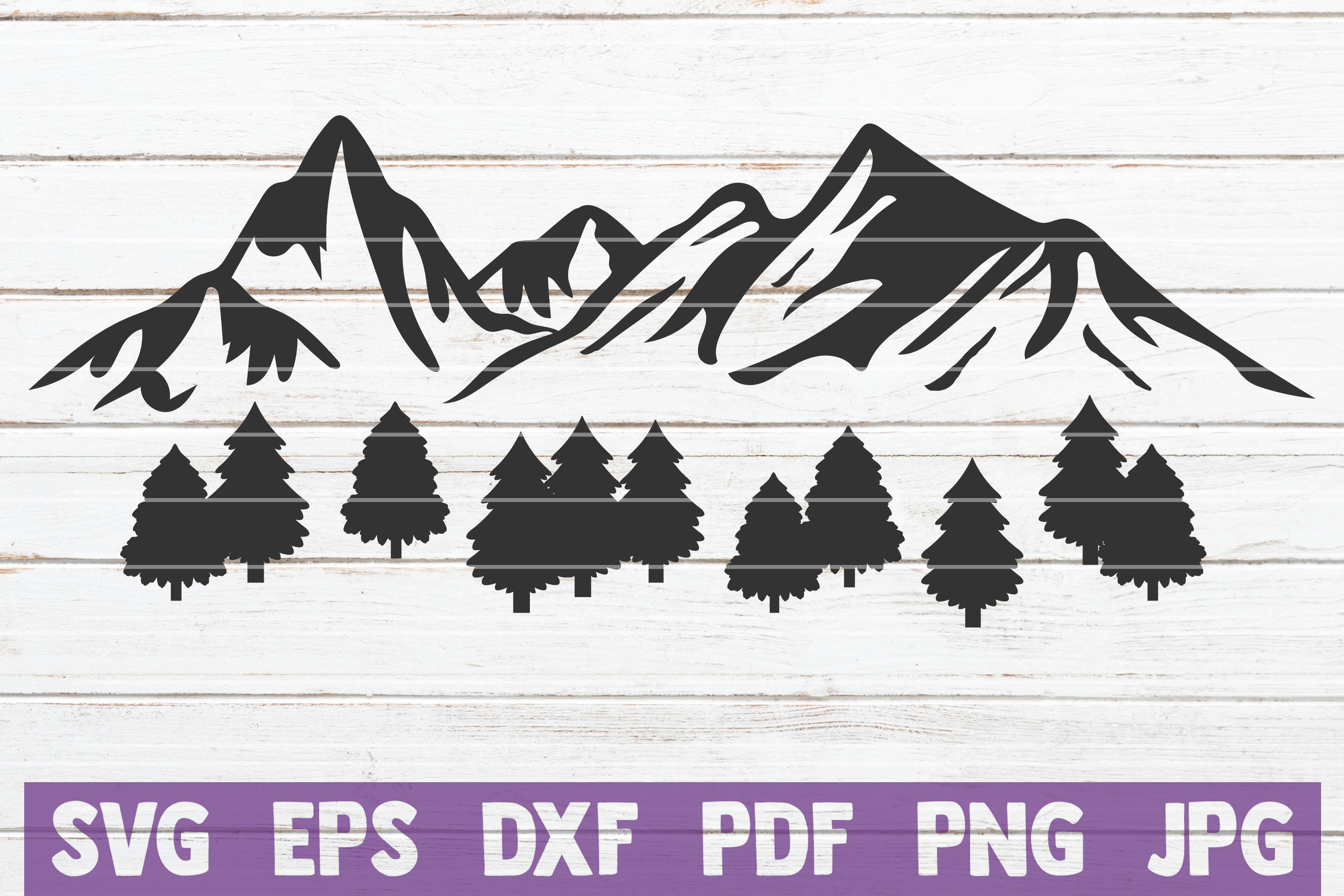Download Free Mountain View Cut File Graphic By Mintymarshmallows Creative for Cricut Explore, Silhouette and other cutting machines.