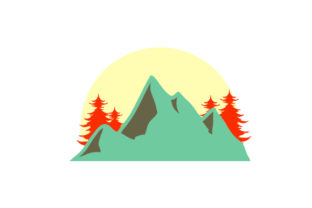 Mountains and Trees Craft Design By Creative Fabrica Crafts