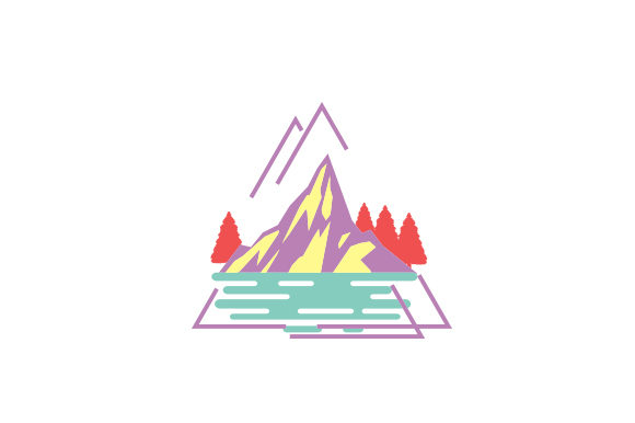 Mountains, Trees and Lakes Designs & Drawings Craft Cut File By Creative Fabrica Crafts - Image 1