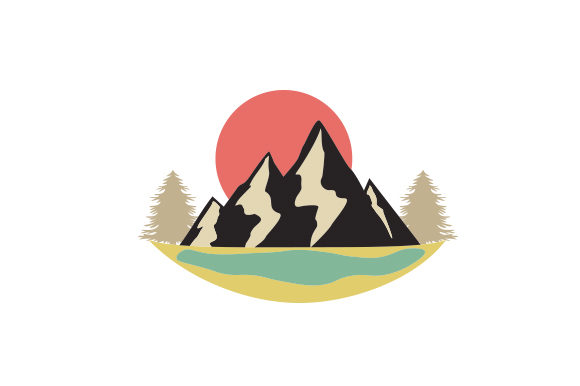 Download Free Mountains Trees And Lakes Svg Cut File By Creative Fabrica for Cricut Explore, Silhouette and other cutting machines.