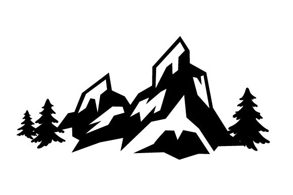 Download Free Mountines And A Bit Of Trees Svg Cut File By Creative Fabrica for Cricut Explore, Silhouette and other cutting machines.