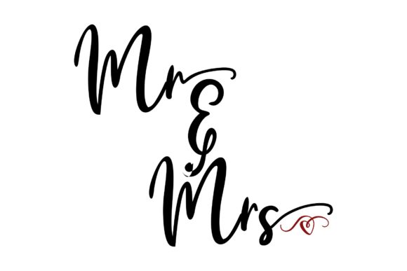 Download Free Mr Mrs Graphic By Studio 26 Design Co Creative Fabrica for Cricut Explore, Silhouette and other cutting machines.