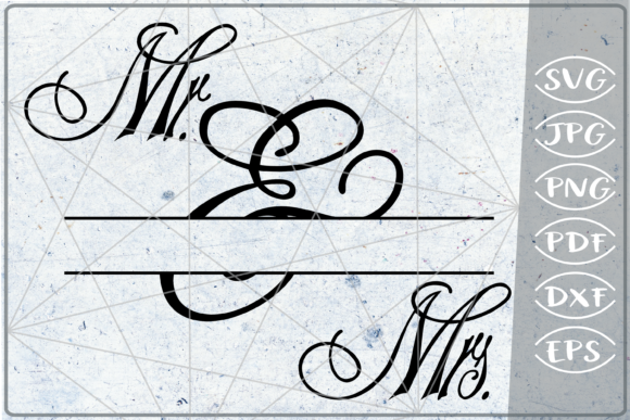 Mr. & Mrs. Split Monogram Frame Crafters Graphic Crafts By Cute Graphic