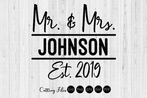 Print on Demand: Mr and Mrs Split Monogram | Wedding SVG Graphic Graphic Templates By HD Art Workshop