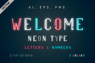 Multicolored Vector Neon Type Graphic By Kirill's Workshop