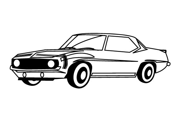 Muscle Car Garage Craft Cut File By Creative Fabrica Crafts - Image 2
