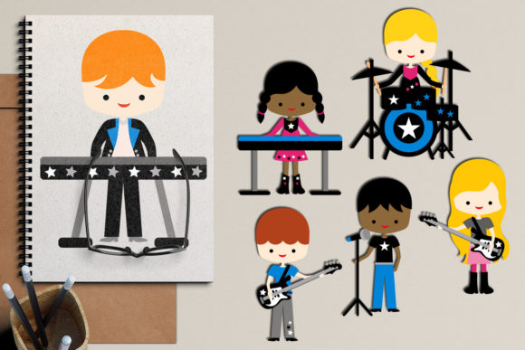 Print on Demand: Music Band Graphic Illustrations By Revidevi