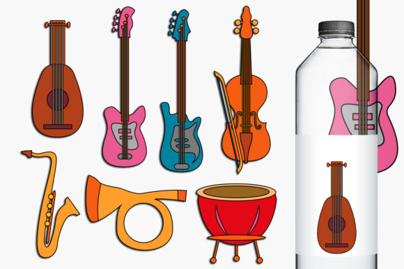 Print on Demand: Music Instruments Graphic Illustrations By Revidevi