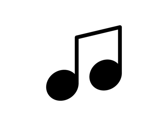 Music Glyph Vector Icon Graphic Icons By tutukof - Image 1