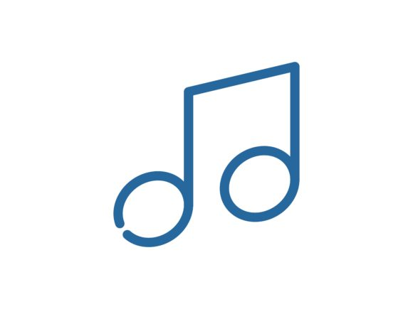 Music Line Color Vector Icon