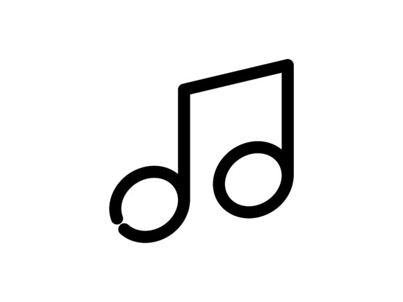 Music Outline Vector Icon