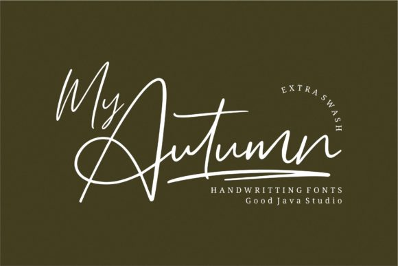 Print on Demand: My Autumn Script & Handwritten Font By goodjavastudio
